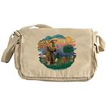 St.Francis #2/ Poodle (Toy A) Messenger Bag
