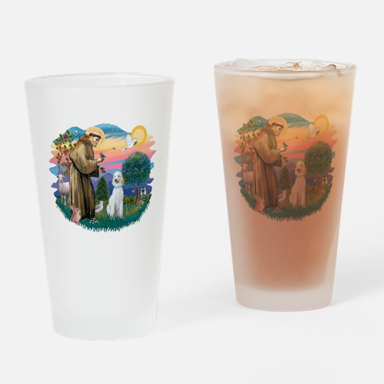 St.Francis #2/ Poodle (Std-Hv Drinking Glass