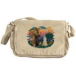 St.Francis #2/ Poodle (Std W) Messenger Bag
