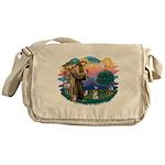 St.Francis #2/ Schnauzer #1 Messenger Bag