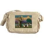 St.Francis (W) - 2 Shelties ( Messenger Bag