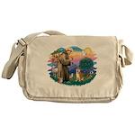 St Francis #2/ Shiba Inu Messenger Bag