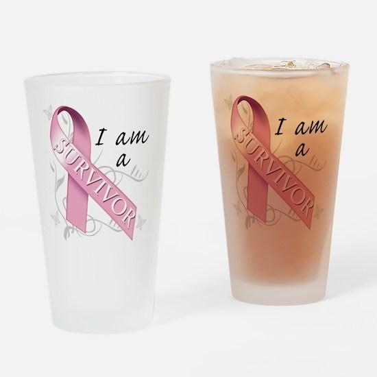 I Am A Survivor Drinking Glass