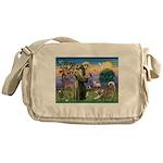 St Francis #2 / Red Husky Messenger Bag