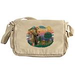 St Francis #2/ Silky (B) Messenger Bag