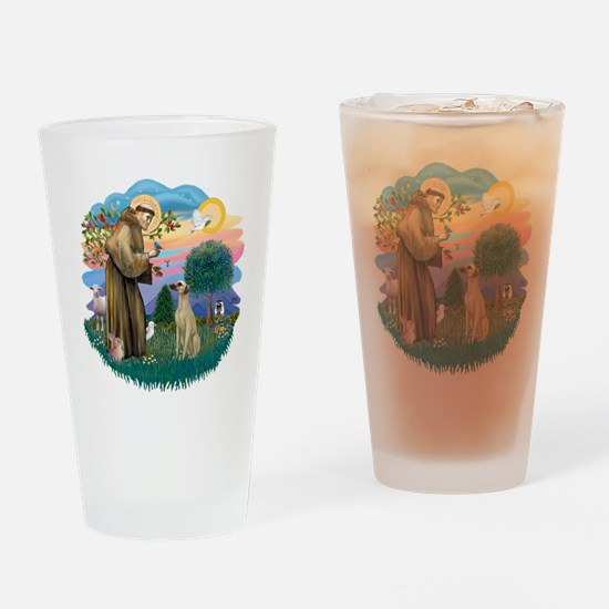 St Francis #2/ Sloughi Drinking Glass