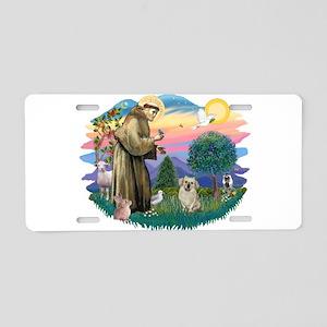 St.Francis #2/ Tibetan Spani Aluminum License Plat