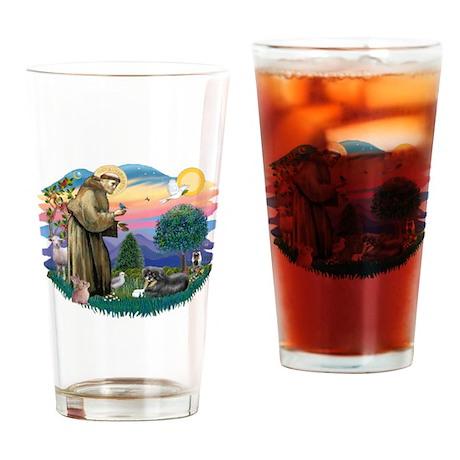 St.Francis #2/ Tibetan Spani Drinking Glass