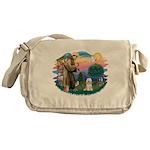 St.Fran#2/ Tibetan Terrier Messenger Bag