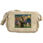 St. Fran #2 / Tibetan Terrier Messenger Bag