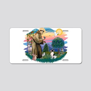 St.Francis #2/ Toy Fox Ter. Aluminum License Plate