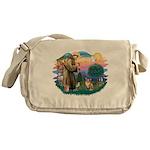 St.Francis #2 / Welsh Corgi ( Messenger Bag