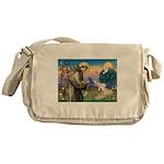 St. Fran #2 / Wheaten Terrier Messenger Bag
