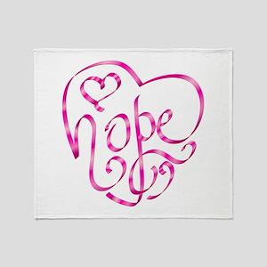 Hope - Breast Cancer Awarenes Throw Blanket