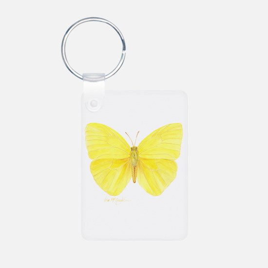 Monarch butterfly resting Keychains