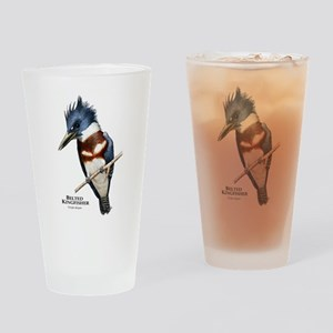 Belted Kingfisher Drinking Glass