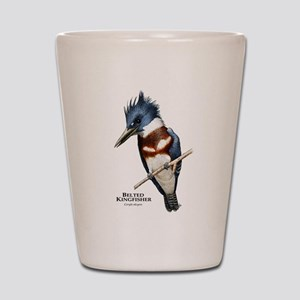 Belted Kingfisher Shot Glass