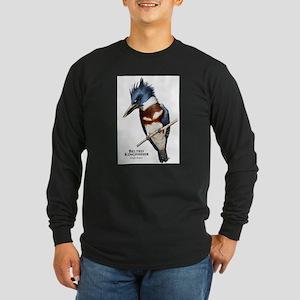 Belted Kingfisher Long Sleeve Dark T-Shirt