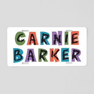 Carnie Barker Aluminum License Plate
