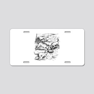 Coyote Pups Aluminum License Plate