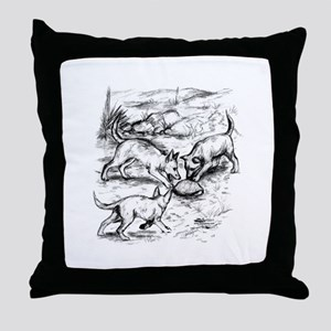 Coyote Pups Throw Pillow