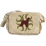 Afghan Hound Tribal Messenger Bag
