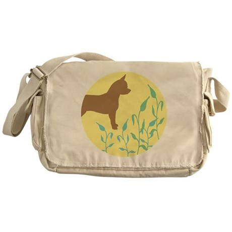 Chihuahua With Leaves Messenger Bag