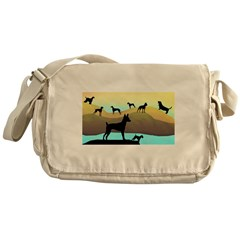 Many Dogs by the Sea Messenger Bag