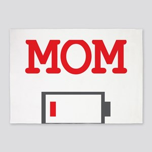 Mom Low Battery 5'x7'Area Rug