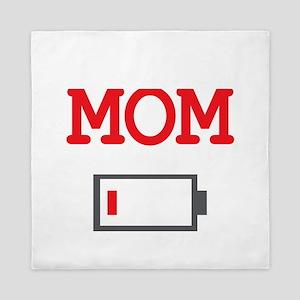 Mom Low Battery Queen Duvet