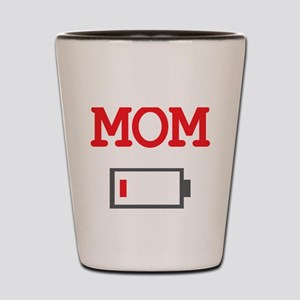 Mom Low Battery Shot Glass