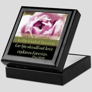 Flower/Psalms Keepsake Box