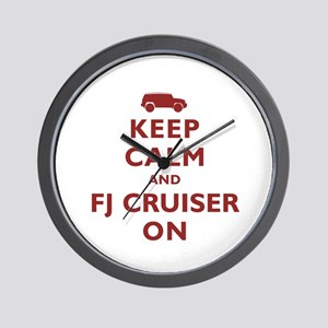 Keep Calm and FJ Cruiser On Wall Clock