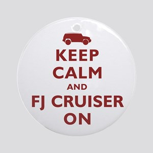 Keep Calm and FJ Cruiser On Ornament (Round)