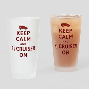Keep Calm and FJ Cruiser On Drinking Glass