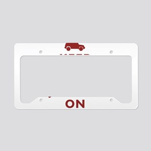 Keep Calm and FJ Cruiser On License Plate Holder