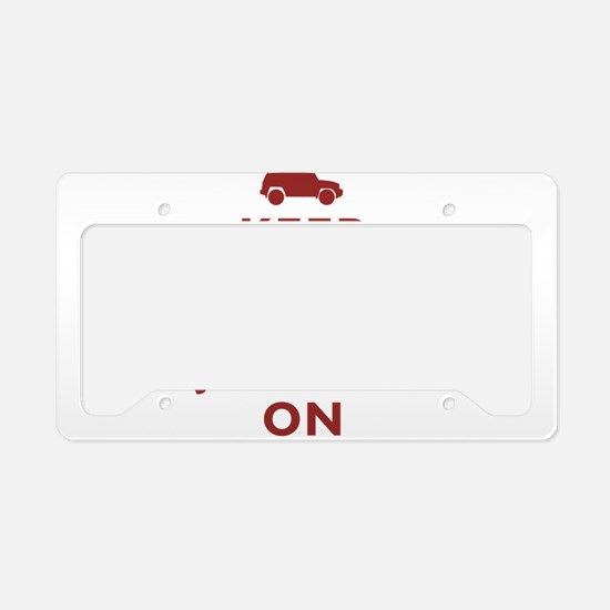 Keep Calm and FJ Cruiser On License Plate Holder
