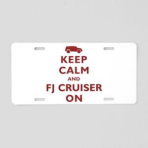 Keep Calm and FJ Cruiser On Aluminum License Plate