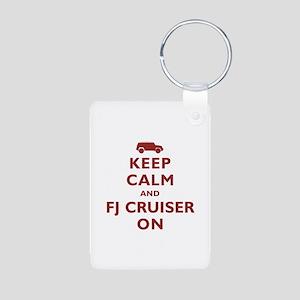 Keep Calm and FJ Cruiser On Aluminum Photo Keychai
