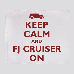 Keep Calm and FJ Cruiser On Throw Blanket
