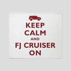 Keep Calm and FJ Cruiser On Throw Blanket