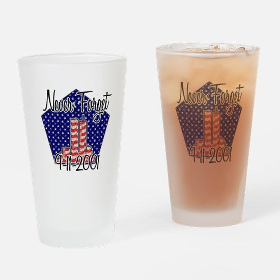 Funny Twin towers Drinking Glass