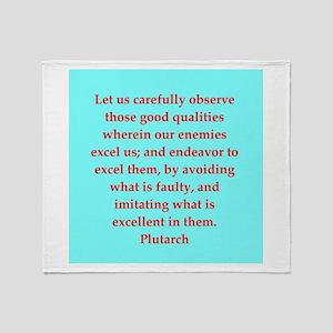 Plutarch's wisdom Throw Blanket