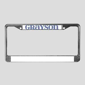 Grayson Blue Glass License Plate Frame