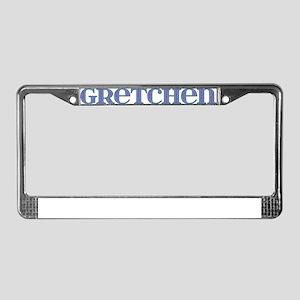 Gretchen Blue Glass License Plate Frame