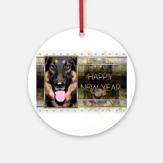 New Year - Golden Elegance - Shepherd Ornament (Ro