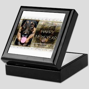New Year - Golden Elegance - Shepherd Keepsake Box