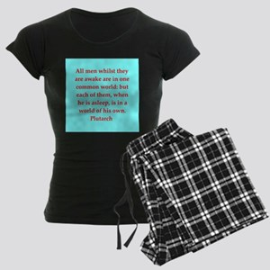 Plutarch's wisdom Women's Dark Pajamas
