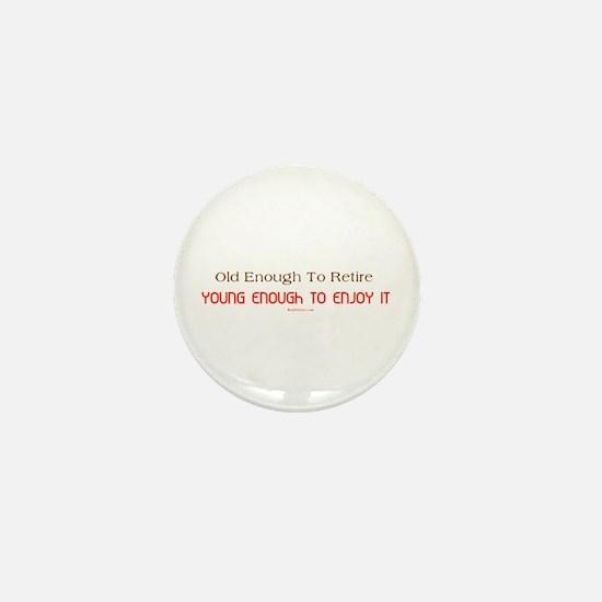 Young Retiree Mini Button
