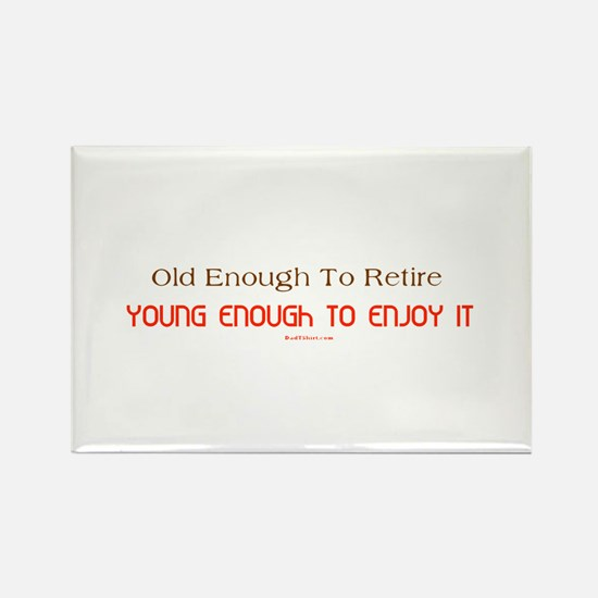 Young Retiree Rectangle Magnet
